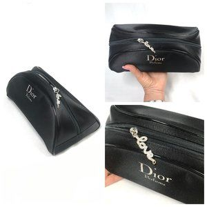 NWT Dior Half Moon Crystal embelised Silk bag